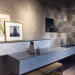Ambiente decorado cuadrados grandes