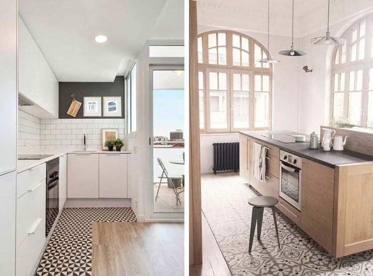 Instalación de suelos en cocinas