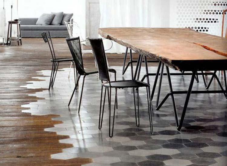 suelos de cerámica en salón