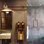 estilo industrial en baños